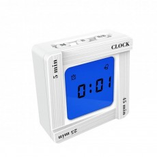 Creative Flip Square Alarm Clock, Timer Reminder Vibrator Timer, Square Student Bedroom Desktop Decoration Alarm Clock, Time Management Timing Clock