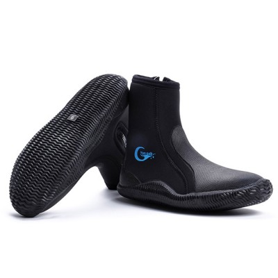 Anti- Slip Wear Diving Boots Snorkeling Surfing Shoes for Men Women, Neoprene Diving Boots, High-Top Vulcanized Diving Boots 5 MM Thickness