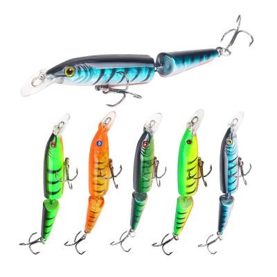 Two-Section Bionic Lure Fishing Bait Minnow for Outdoor Fishing, Fishing Lure Trolling Hard Bait 9g/4.169inch Fishing Gear