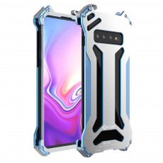 Creative Minimalist Samsung Phone Case, Solid Hollow Metal Mobile Phone Cover for Samsung S10 S10Plus Scratching-proof Aluminum Alloy Phone Back Case