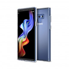 Ultra Soft Waterproof TPU Phone Case Cover with Transparent Frame Compatible with Samsung Note 9
