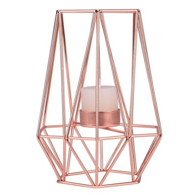 Elegant Golden Hollow Solid Metal Candle Holder, Minimalist Romantic Pink Golden Candler Table Accessories Decoration