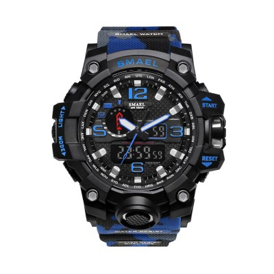 Men's Sports Analog Digital Watch, Waterproof Multifunctional Large Dial Wrist Watch for Men