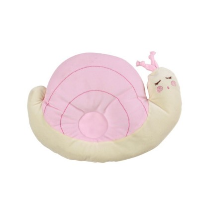 Comfortable Anti-flat Pillow, Snail Shape Pillow for New-born, Toddlers Baby Nursing Bedding Pillow