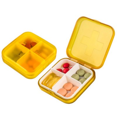 Moisture-proof Waterproof Weekly Pill Case, Multi-purpose Pill Organizer Pure Color Medicine Box