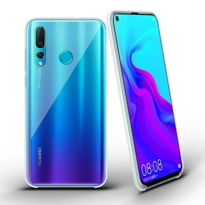 size 40 1f932 a28bd Plain Transparent Phone Case Ultra-soft Light Silicone Phone Shell for  HUAWEI NOVA 4 Shinny Phone Cover