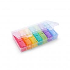 Mini Plastic Medicine Box for Pills & Tablets, Plastic Pill Container One-week Pill Organizer