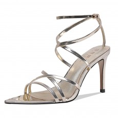 Open Toes High Heel Sandals with Ankle Strap, Front Cross Strap Footwear Thin Heel Dress Shoes for Fashion Ladies Summer