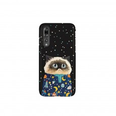 Cute Phone Case with Unique Starry Sky Cats Poodle Bichon Frise Patterns, Black Soft TPU Phone Cover for iPhone Huawei P20 Pro p10 PLUS