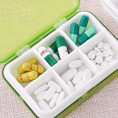 Moisture-proof Waterproof Weekly Pill Case, Multi-purpose Pill Organizer Pure Color Medicine Box with Large Capacity
