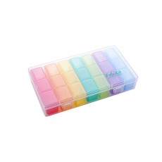 Mini Plastic Medicine Box, Mini Storage Box for Pills & Tablets, Plastic Pill Container, One-week Pill Box Organizer