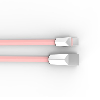Delicate 2.4A Single-end Type-C Copper Charging Cable, Unique Stylish Smart Phone USB Data Charging Wire