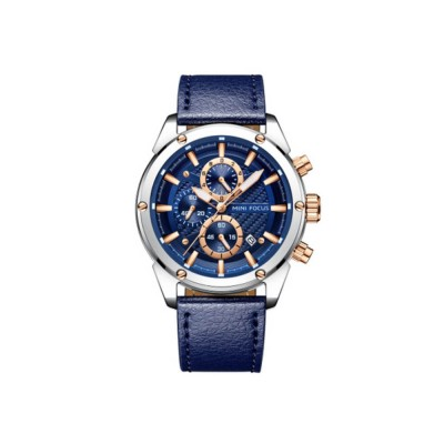 Waterproof Luminous Watch with Calendar, Business Men's Watch with Leather Band 2019 Fashion Mechanical Watch