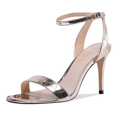Summer High Heel Sandals with Word Buckle Roman Sandals, Women Dress Shoes Sexy High Heels