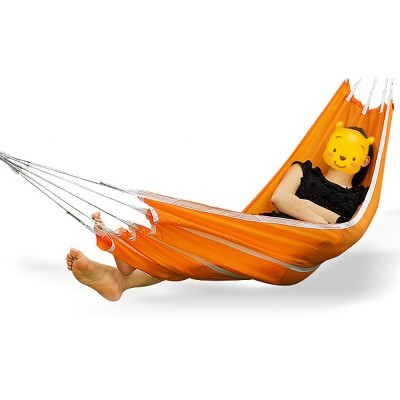 Canvas Hammock for Outdoor Enthusiasts, Strong Bearing Force Cot Bed, Firmly Bind Mesh Leisure Swing