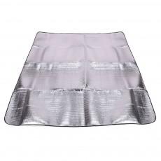 Outdoor Waterproof Aluminum Membrane Mat, Thickening Camping Tent Mat Beach Mat 200*150cm
