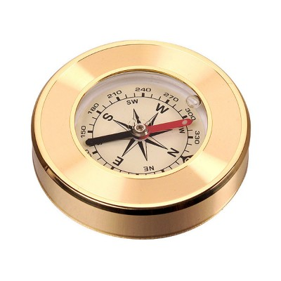 Brass Shell Compass for Mountaineering Camping Waterproof, Outdoor Vehicle-mounted Compass, Magnetic Pocket Directional Compass