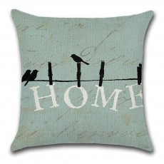 Sweet Pillow Cover for Couples, Birds Pattern Household Pillowcase for Sofa Home Decorative Pillow 45*45cm Pillow Case