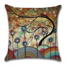 Oil Painting Style Pillow Case, Characteristic Pillowcase for Car or Home Sofa Pillow