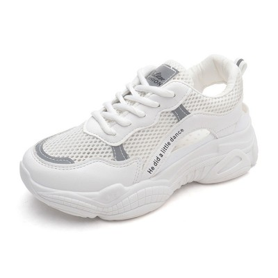 Instagram Clunky Sneakers for Women Student, Mesh Fabric Breathable Torre Shoes, Thick Sole Elevator Shoes 2019