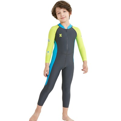 New Style Diving Suit for Children, Outdoor Used One-piece Sunscreen Diving Dress, Long Sleeves Quick-dry Children's Swimsuits All Season