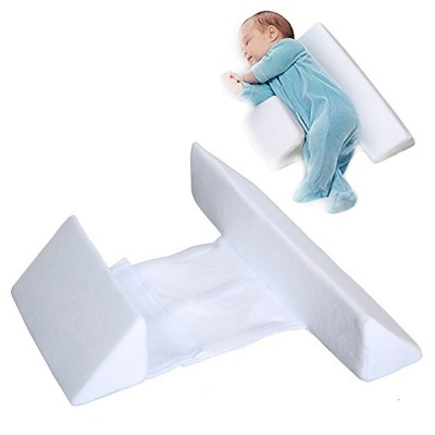 Baby Pillow with Breathable Organic Cotton, Baby Accessories Prevent Rollover Spit Milk for Newborn Head Pillows
