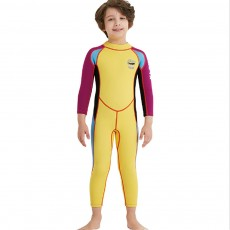 One-piece Boy Diving Suit, Long Sleeve Diving Clothes for Boys, Sunblock Swimsuits Snorkeling 2019 Spring Surfing Swimwear