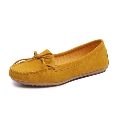 Women's Flat Shoes, Ultra-comfortable Slip-ons Loafers for Ladies, Pregnant Women, Bow Decorated Casual Shoes