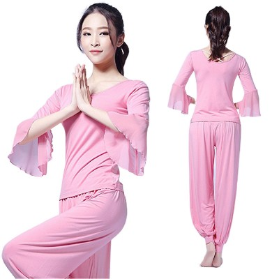 Skin-friendly Yoga Wear Suit, Loose Performance Wear Large Size, Loose Clothes Suit Fitness Dress Suit for Women 2019