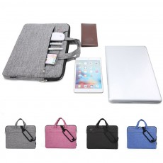 Waterproof Laptop Bag 13 inch 14 inch 15 inch, Laptop Shoulder Bag Multi-functional Notebook Sleeve Carrying Case With Strap