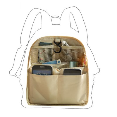 Travel Organizer Bag, Portable Makeup Bag with Hanging Hook, Large Capacity Cosmetic Storage Bag