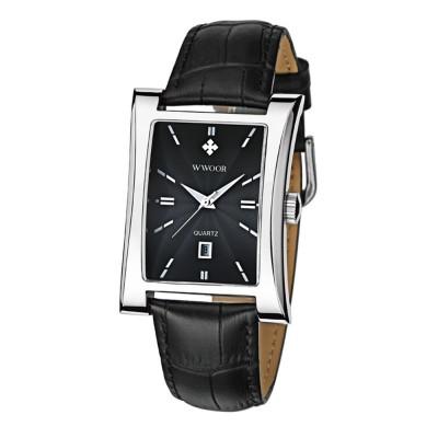 Luxury Wrist Watch for Men, High Quality Leather Strap Watch with Calendar, Waterproof Men's Watch