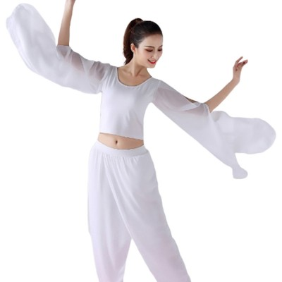 Beauty Shaped Yoga Wear for Women, Cotton Chiffon Yarn Belly Dance Formal Clothes Suit, Slim-fitting Performance Clothes Suit for Yoga, Fitness, Exercise