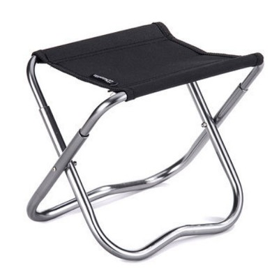Outdoor Folding Stool, Durable Oxford Fabric Stools with Aluminum Holder for Camping Fishing Cycling Traveling