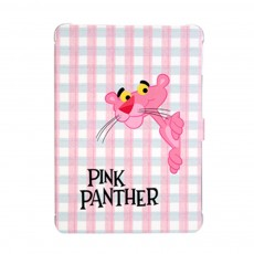 Cute Pink Panther Painting iPad Protective Cover, Skin-friendly Silicone PU Leather Smart Stay Case for iPad 9.7 inch A1893 Pro 10.5 Air 2 1