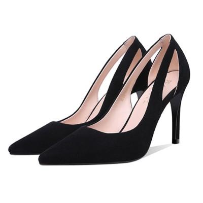 classic black stiletto heels