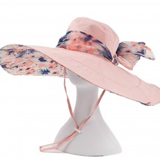Folding Sunhat with Breathable Material, Stylish Ribbon Hat for Women, Best Choice Summer Sunhat for Beach, Outdoors