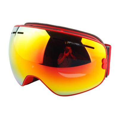 Unisex Anti-fog Ski Snow Sports Goggles, Adjustable Outdoors Snowfield Eye Protector Glasses, Double Layers Snow Sports Goggles