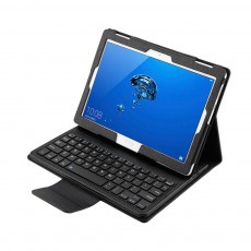 10.1 inch Bluetooth Keyboard with Detachable Leather Case, Scintillation Lamp Function Keyboard for Huawei Honor Waterplay 10''