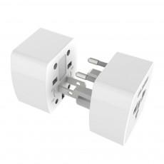 Universal Change-over Plug with Change-over Jack, Small Portable Universal Travel Charging Plug