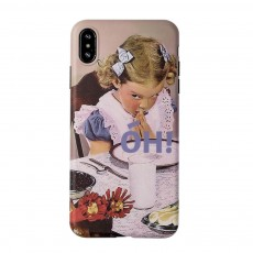 Retro Girl Mobile Phone Case for Apple, All-Inclusive Anti-Drop Soft Plastic Phone Shell Back Cover for iPhone 7 7 Plus 8 8 Plus X XS MAX XR