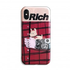 Tattooed Arm and Puppy Mobile Phone Cover for iPhone, with High-quality TPU Material, Cute and Cool Mobile Phone Shell