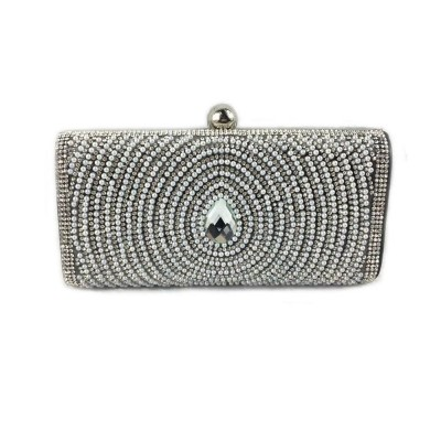 2019 Clutch Bags for Women Elegant Evening Handbag with Crystal and Pearl Decoration, Fashionable Easy Matching Clutch for Dinner Parties