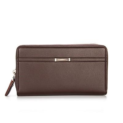 44e7279ca500 Large Capacity PU Leather Clutch Bag Wallet for Men, Double Zipper Multiple  Card Positions Fashion Handbag Phone Bag
