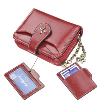 Baellery Short Purse for Women, PU Leather All-match Fashion Coin Purse Tassel Zipper Handbag Wallet 2019 New