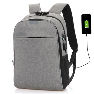 Multifunctional Minimalist Water-proof Student Backpack, Outdoors Travel Shoulder Bag with USB Charging Port Earphone Hole