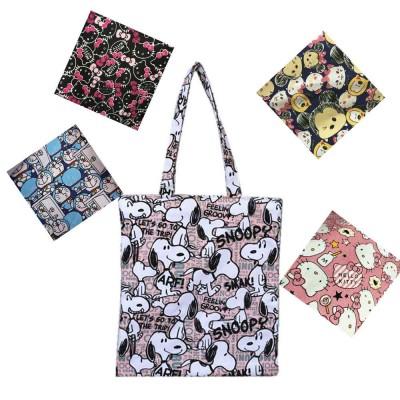 Canvas Cartoon Hand Bag Shoulder Bag, Environmental Protection Shopping Bag, Single-shoulder Bag with Lovely Cartoon Image