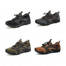 Breathable Mountaineering Shoes for Men, Anti-Slip Hiking Shoes Comfortable & Durable Hiking Shoes