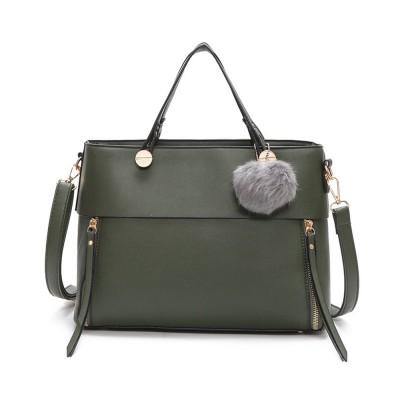 Lady Handbag PU Fashion Simple Hand Big Bag Shoulder Messenger For Women Middle-aged Mother