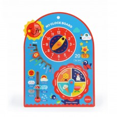 Calendar Wooden Clock Puzzle Hanging Board Multifunctional Daily Learning Digital Season Cognitive Children Toys for 3 to 6 years kids